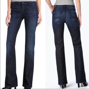 7fam high waist bootcut blue 25